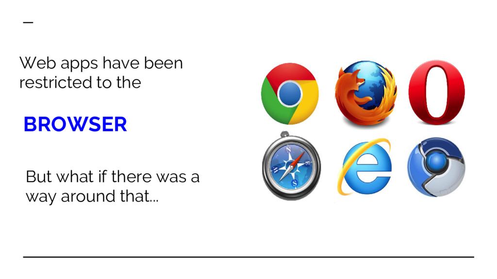 Web apps have been restricted to the BROWSER Bu...