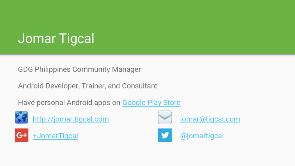 Jomar Tigcal GDG Philippines Community Manager ...