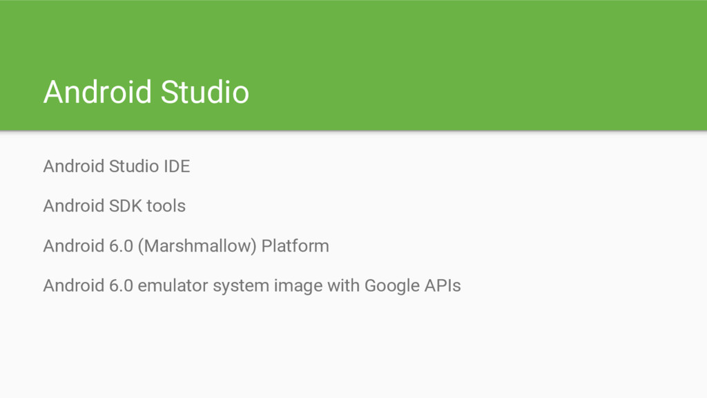 Android Studio Android Studio IDE Android SDK t...