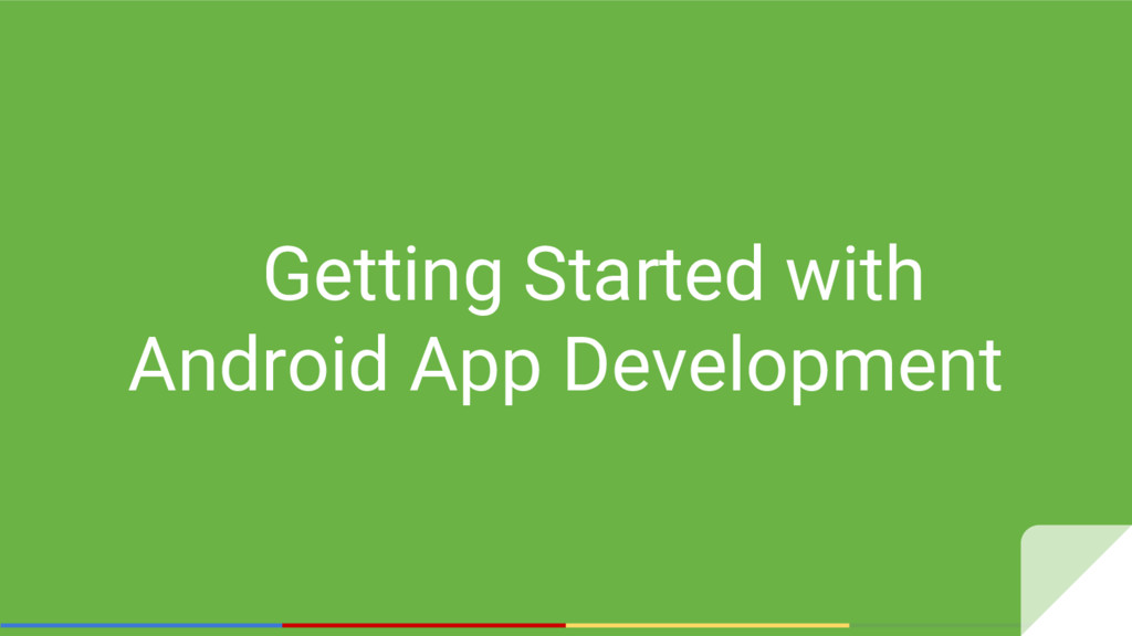 Getting Started with Android App Development
