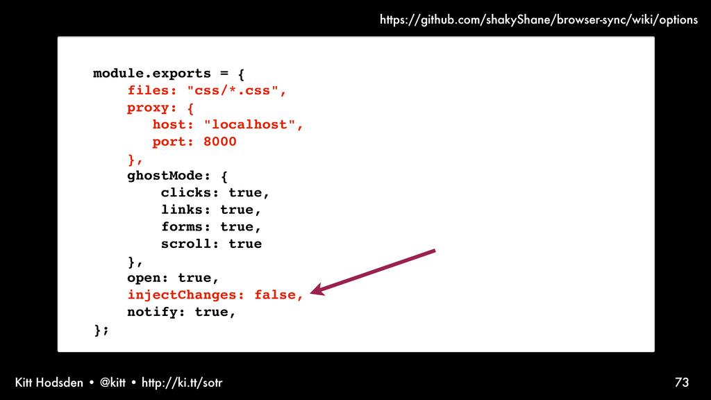 Kitt Hodsden • @kitt • http://ki.tt/sotr module...