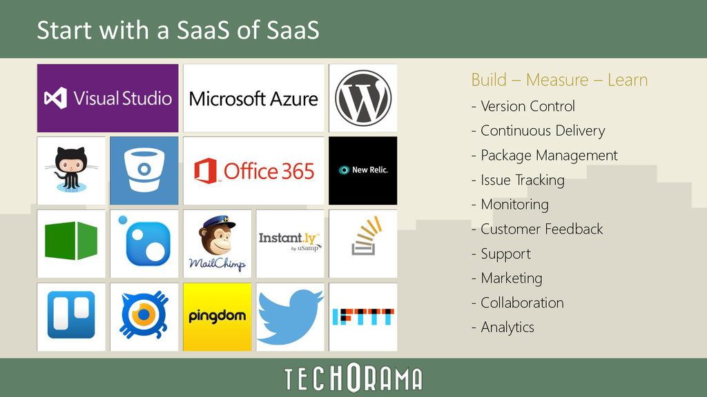 Start with a SaaS of SaaS Build – Measure – Lea...