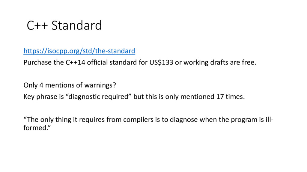 C++ Standard https://isocpp.org/std/the-standar...