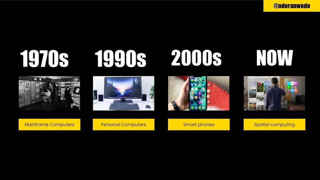 @adoranwodo 1970s 1990s 2000s NOW Mainframe Com...