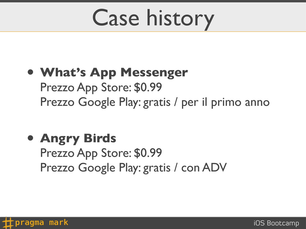 iOS Bootcamp Case history • What's App Messenge...
