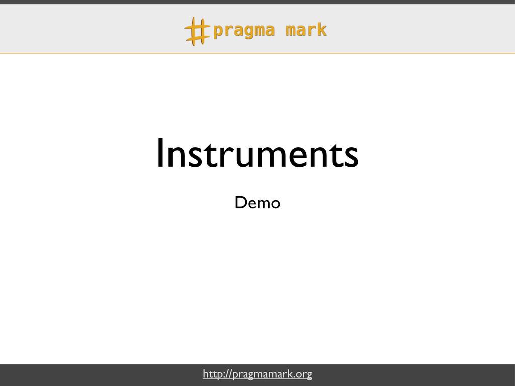 http://pragmamark.org Instruments Demo