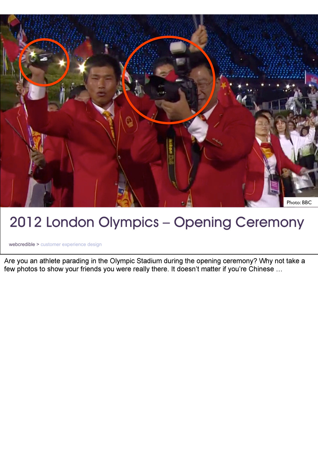 Are you an athlete parading in the Olympic Stad...