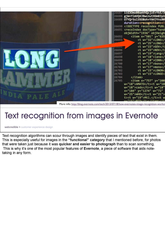 Text recognition algorithms can scour through i...