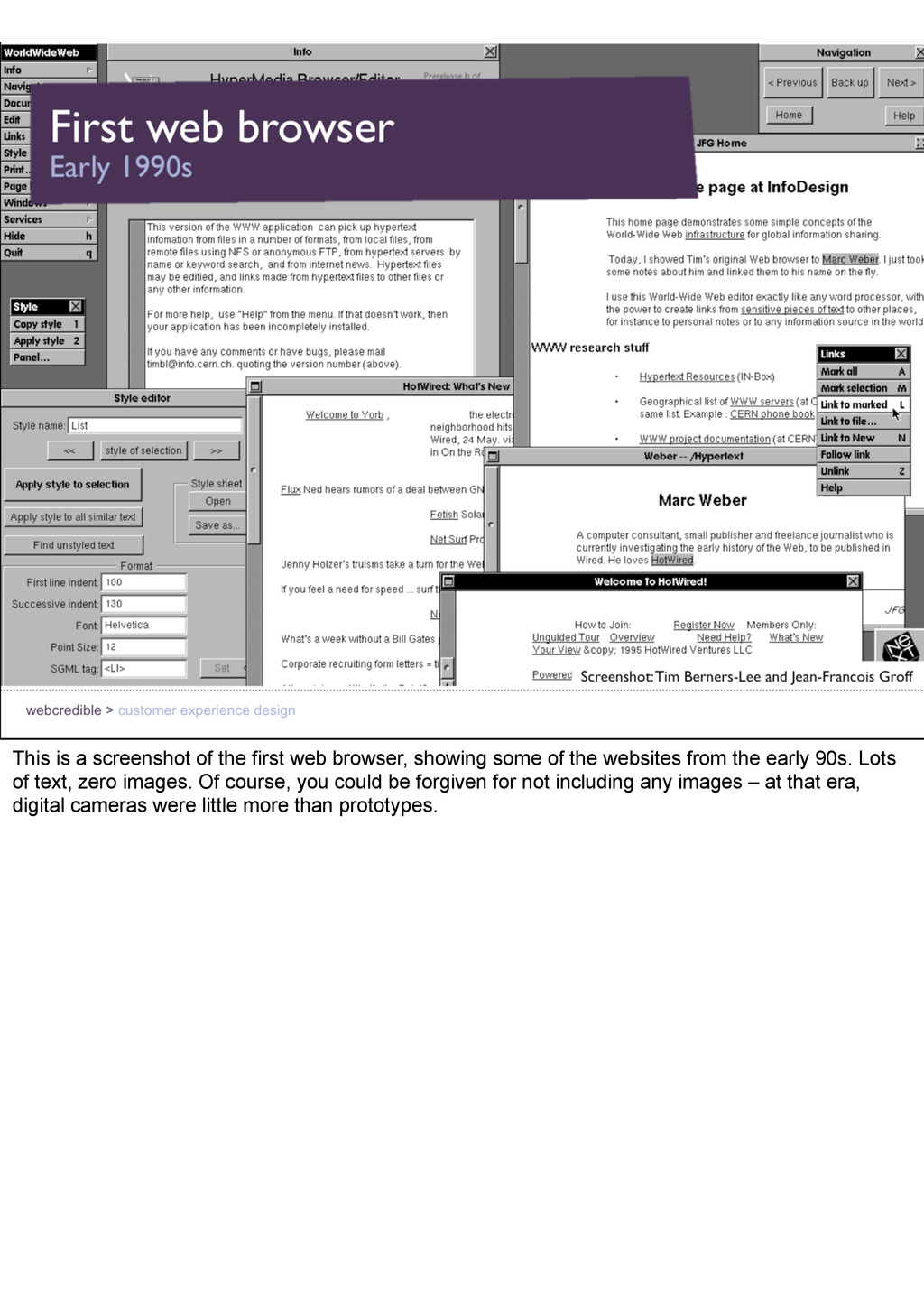 This is a screenshot of the first web browser, ...