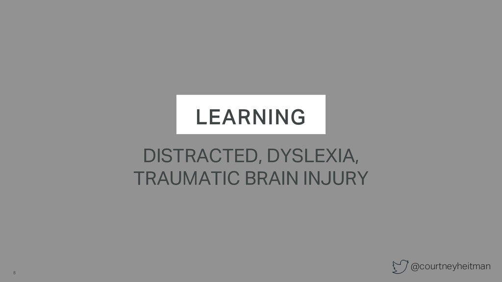 @courtneyheitman LEARNING DISTRACTED, DYSLEXIA,...