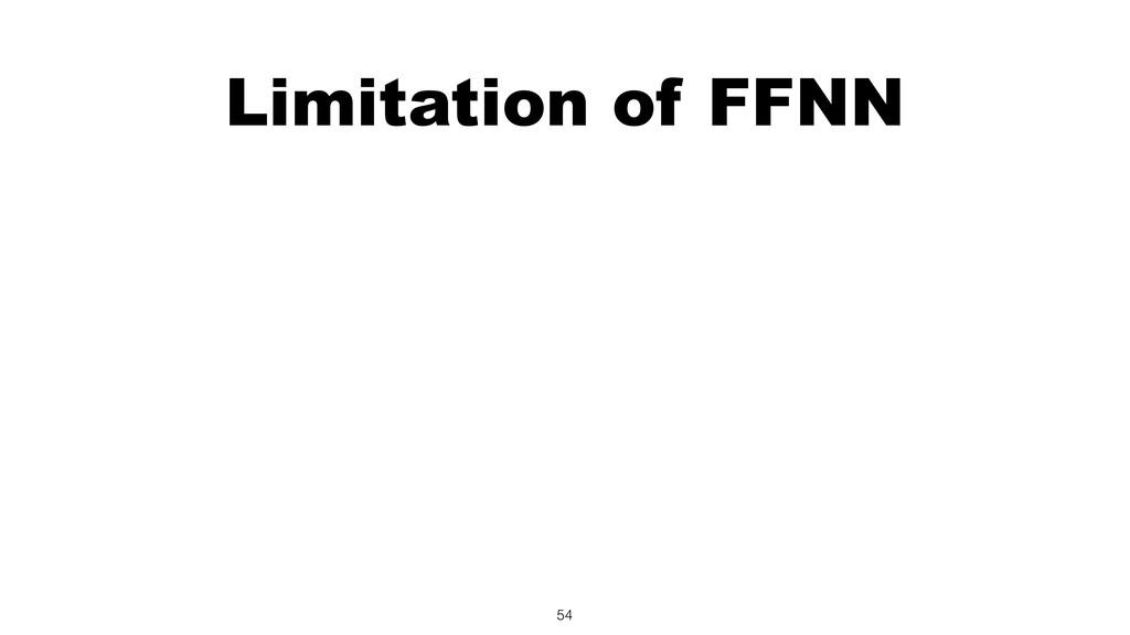 Limitation of FFNN 54