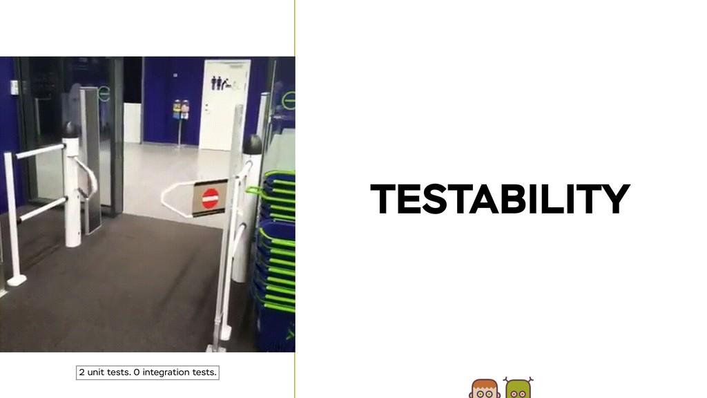 TESTABILITY 2 unit tests. 0 integration tests.