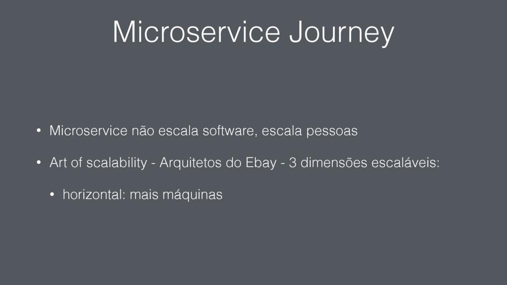 Microservice Journey • Microservice não escala ...