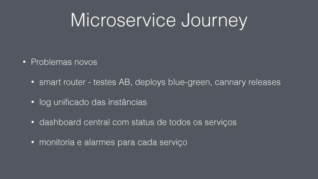 Microservice Journey • Problemas novos • smart ...