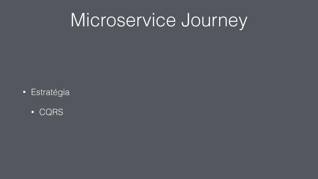 Microservice Journey • Estratégia • CQRS