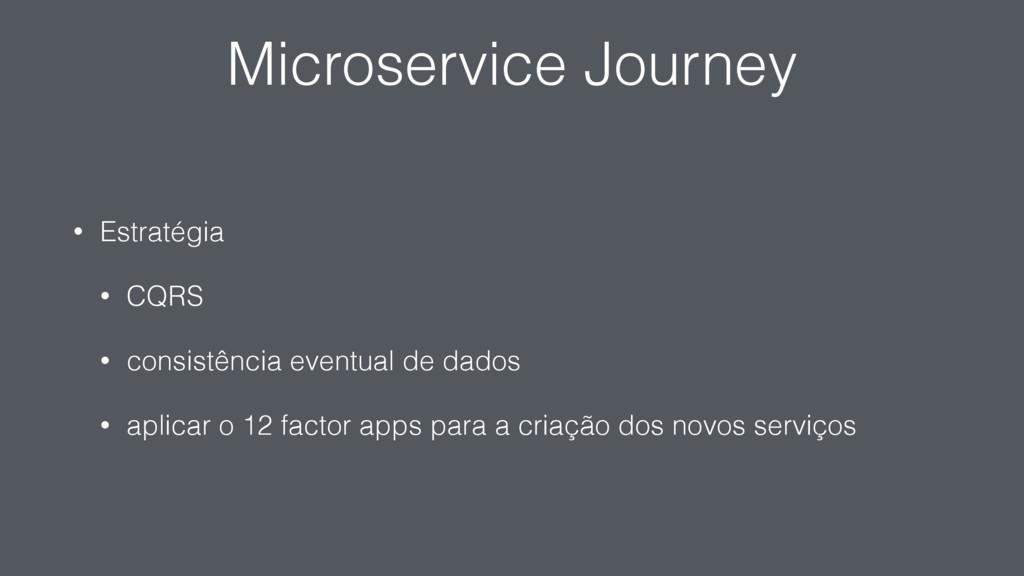 Microservice Journey • Estratégia • CQRS • cons...