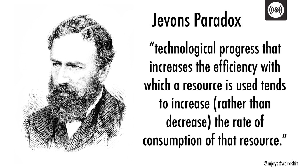 "@mjays #weirdshit Jevons Paradox ""technological..."