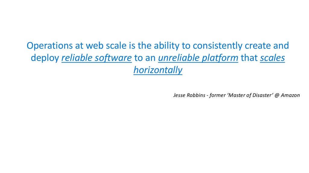 Operations at web scale is the ability to consi...