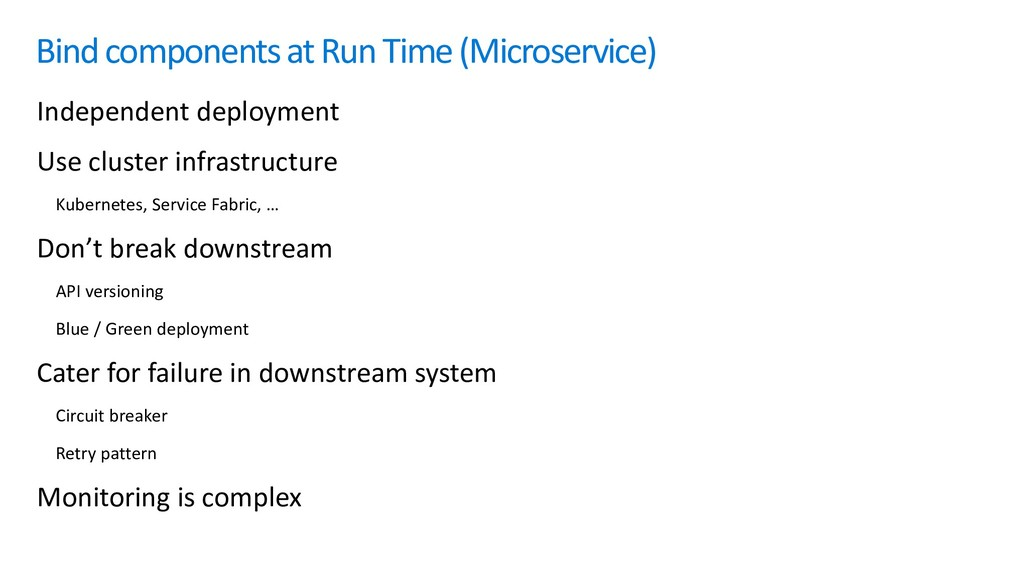Bind components at Run Time (Microservice) Inde...