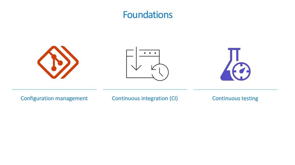 Foundations Configuration management Continuous...