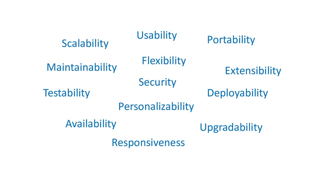 Portability Testability Scalability Security Ma...