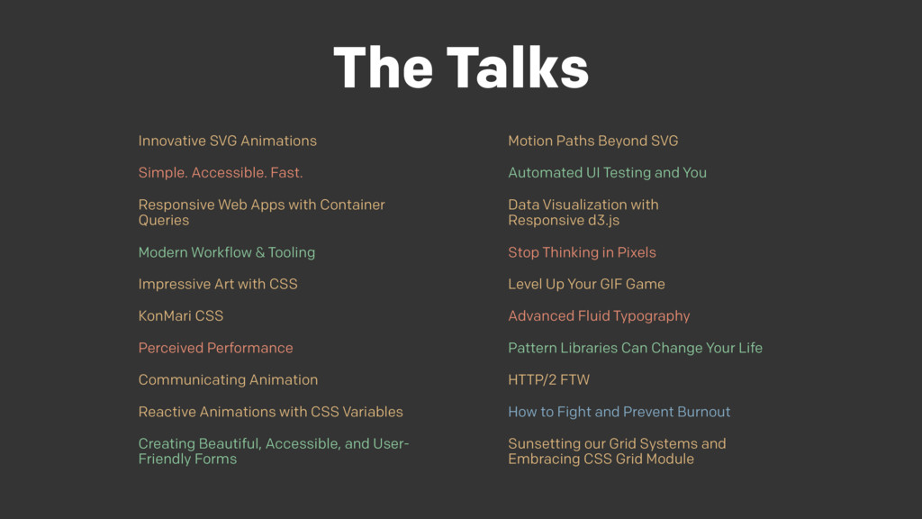 The Talks Innovative SVG Animations Simple. Acc...