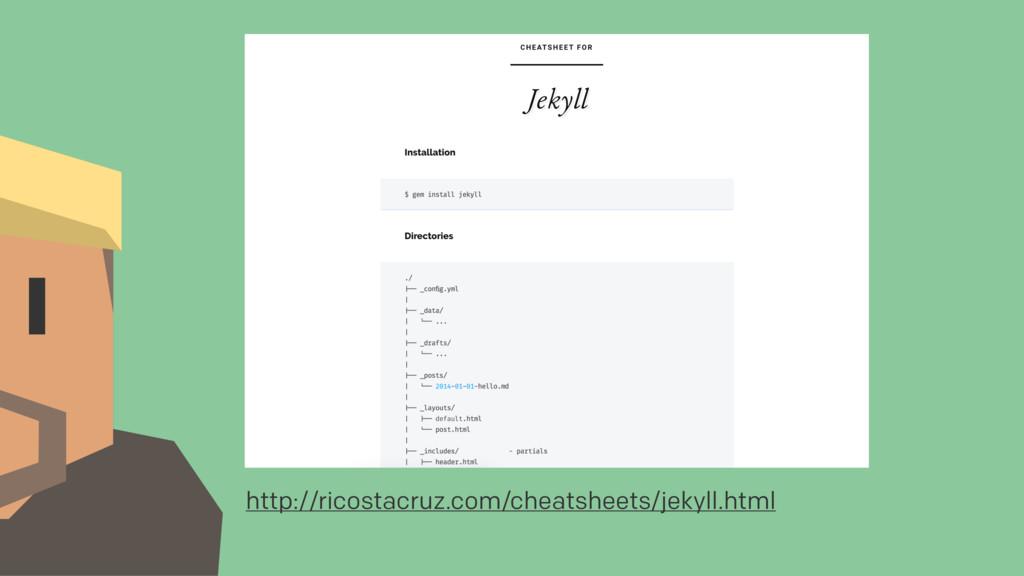 http://ricostacruz.com/cheatsheets/jekyll.html