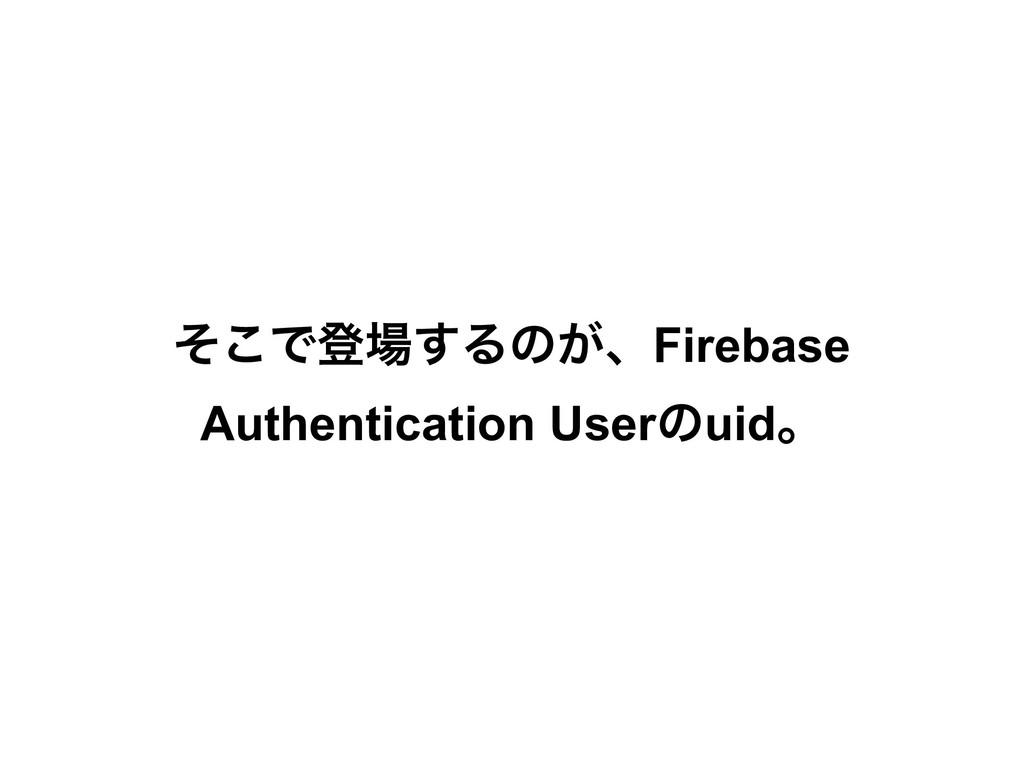 ͦ͜Ͱొ͢Δͷ͕ɺFirebase Authentication Userͷuidɻ