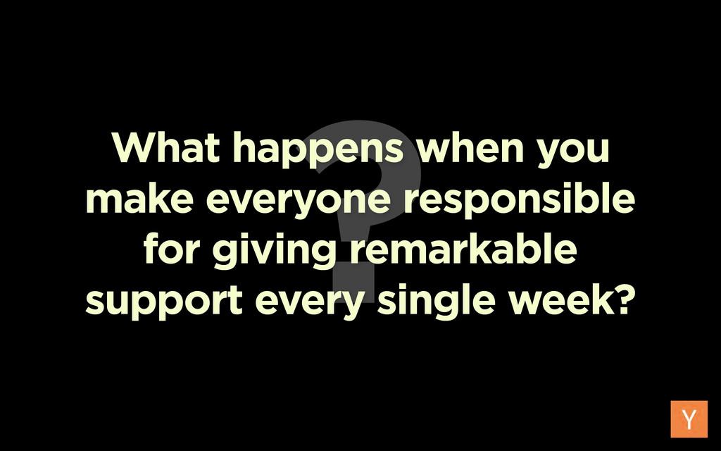 ? What happens when you make everyone responsib...