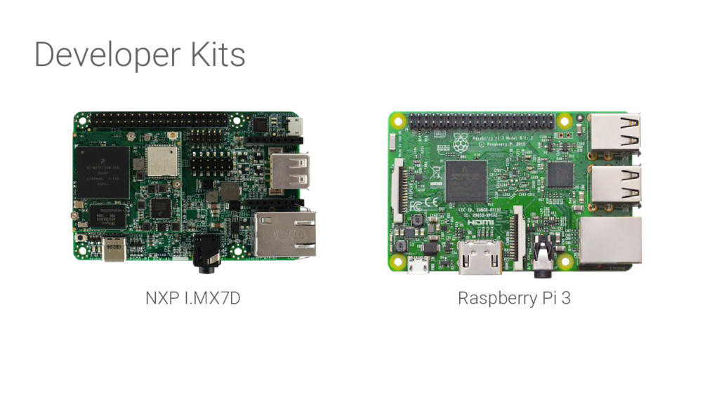 Developer Kits NXP I.MX7D Raspberry Pi 3