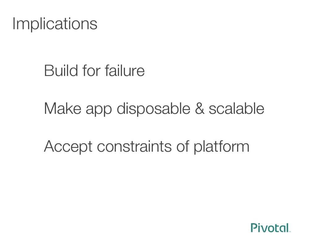 Implications Build for failure  Make app d...