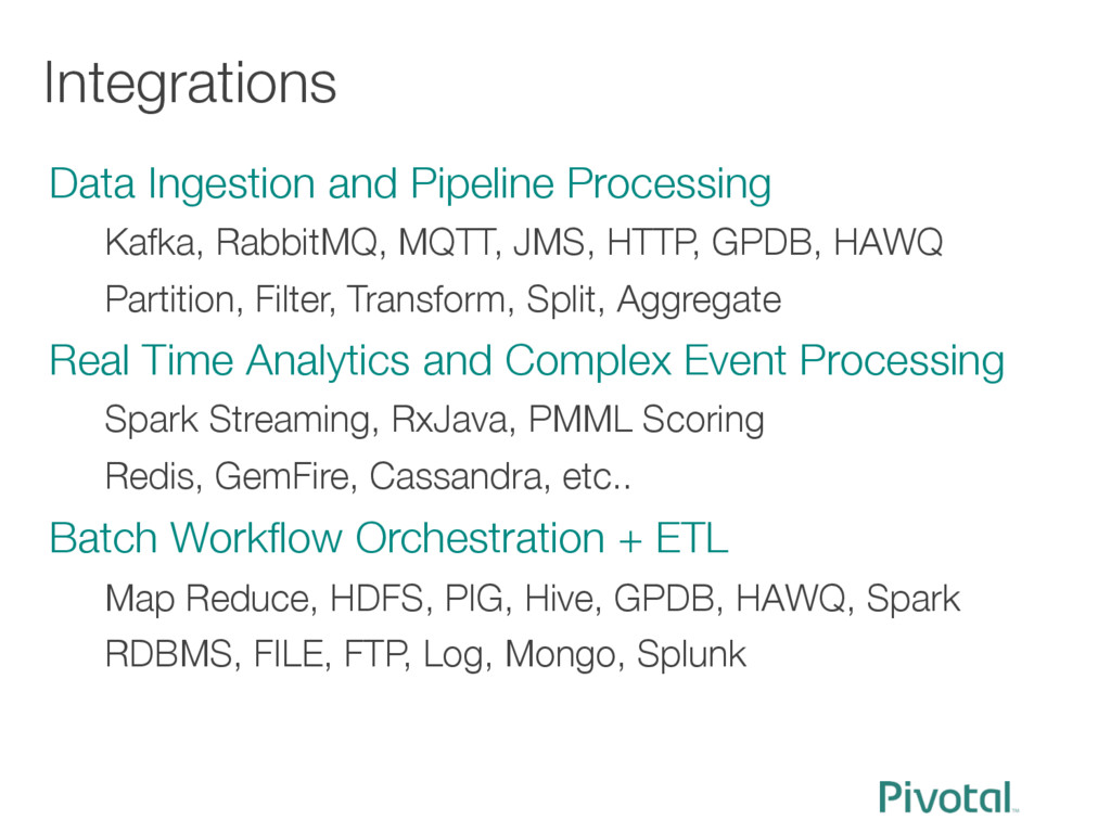 Integrations Data Ingestion and Pipeline Proce...