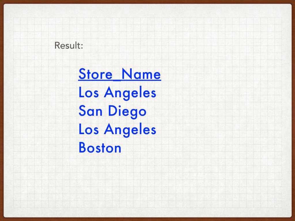 Store_Name Los Angeles San Diego Los Angeles Bo...
