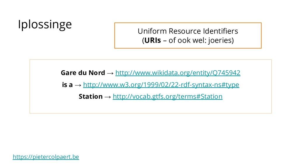 https://pietercolpaert.be Iplossinge Gare du No...