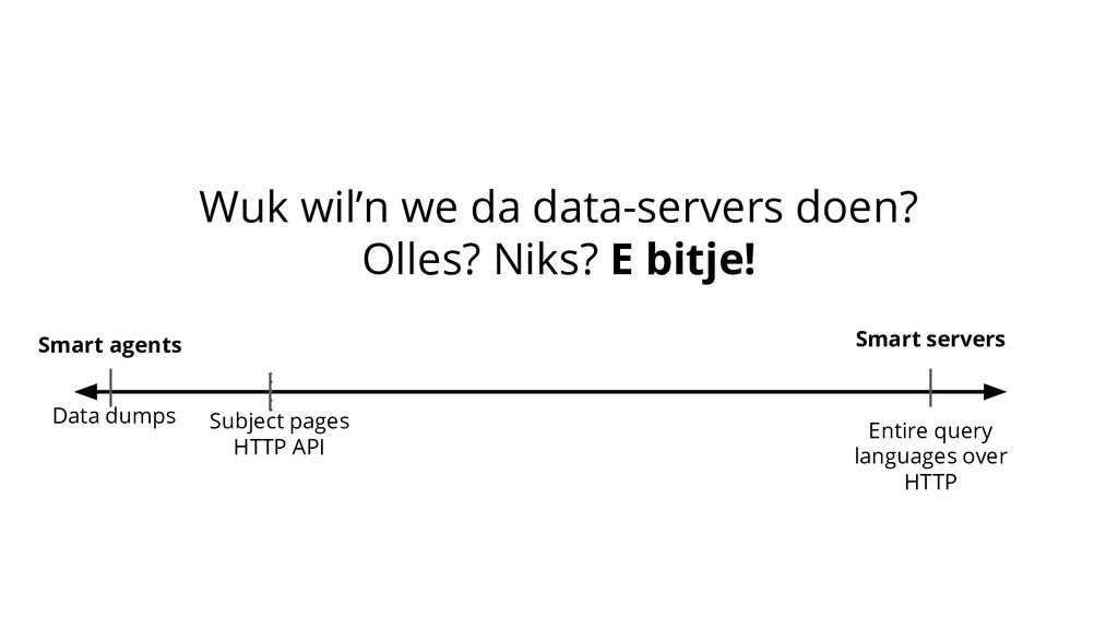 Wuk wil'n we da data-servers doen? Olles? Niks?...