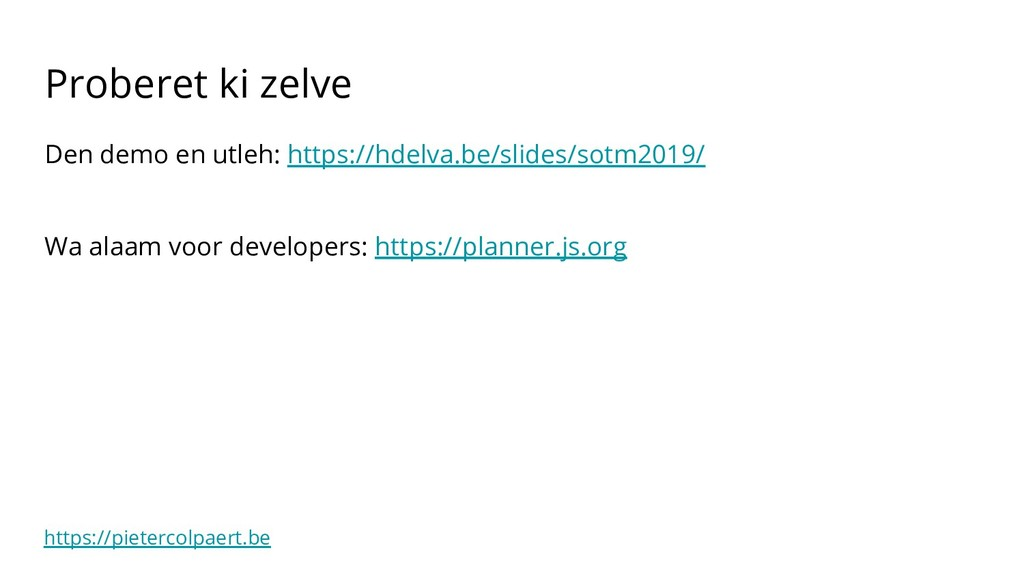 https://pietercolpaert.be Proberet ki zelve Den...