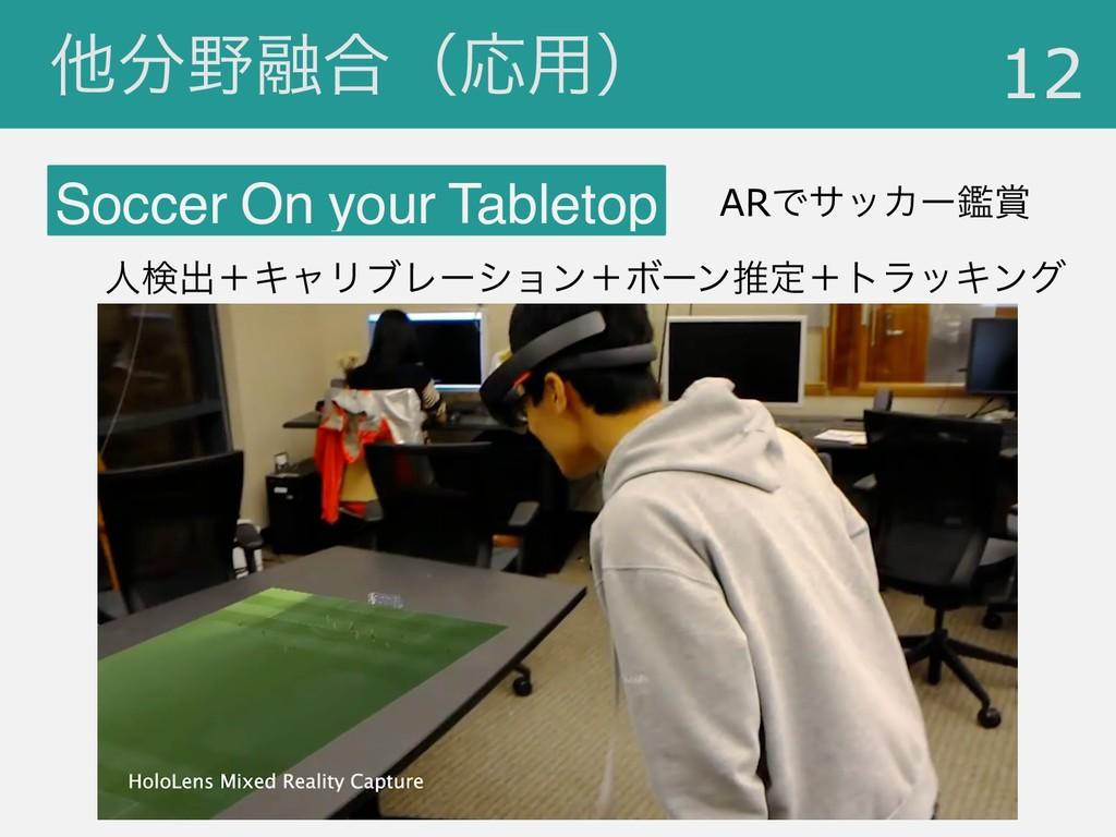 ଞ༥߹ʢԠ༻ʣ !12 Soccer On your Tabletop ARͰαοΧʔؑ...
