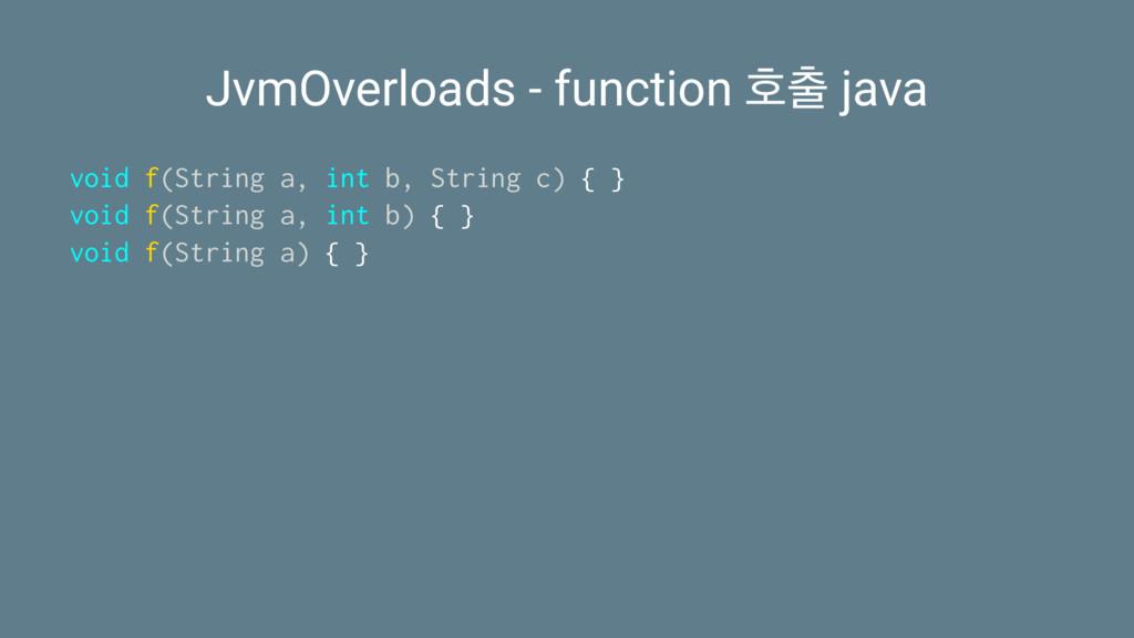 JvmOverloads - function ഐ java void f(String a...