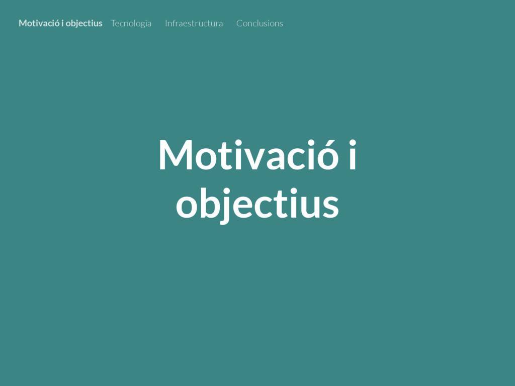 Motivació i objectius Motivació i objectius Tec...