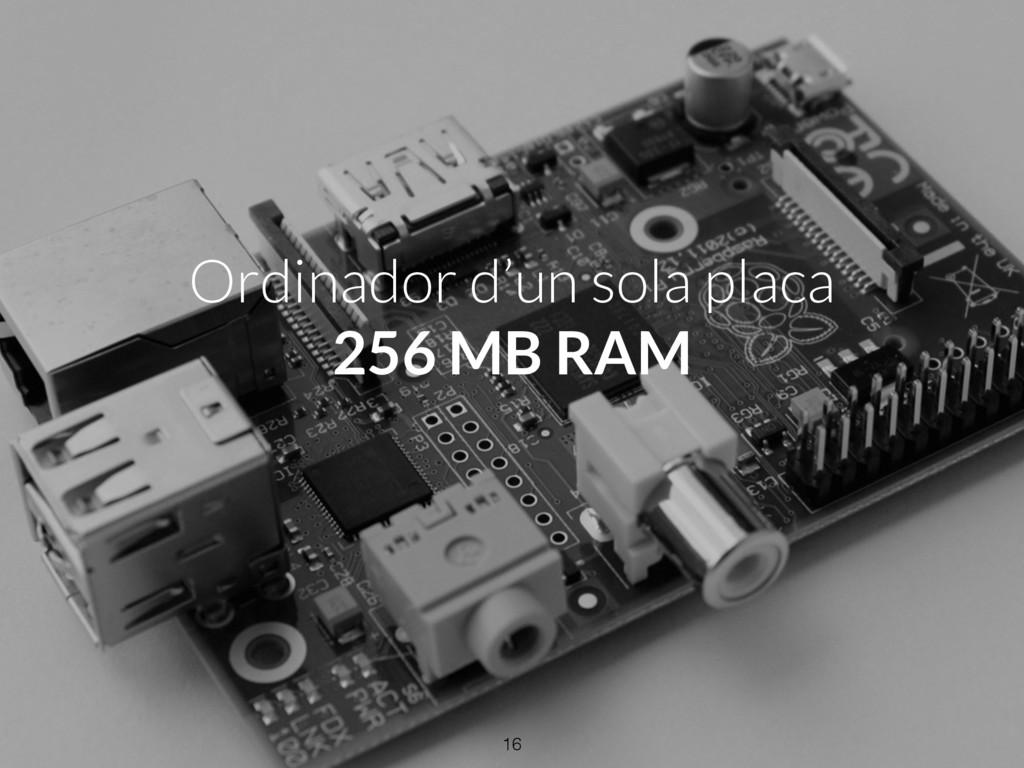 Ordinador d'un sola placa 256 MB RAM 16
