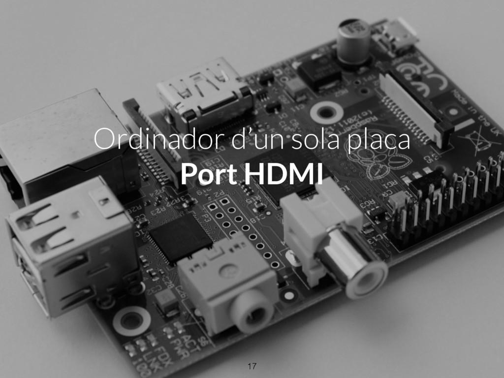 Ordinador d'un sola placa Port HDMI 17
