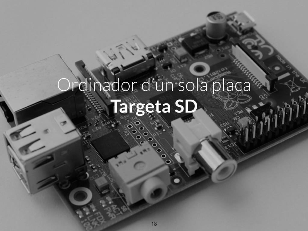 Ordinador d'un sola placa Targeta SD 18