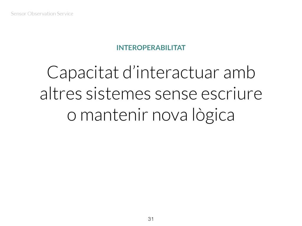 Capacitat d'interactuar amb altres sistemes sen...