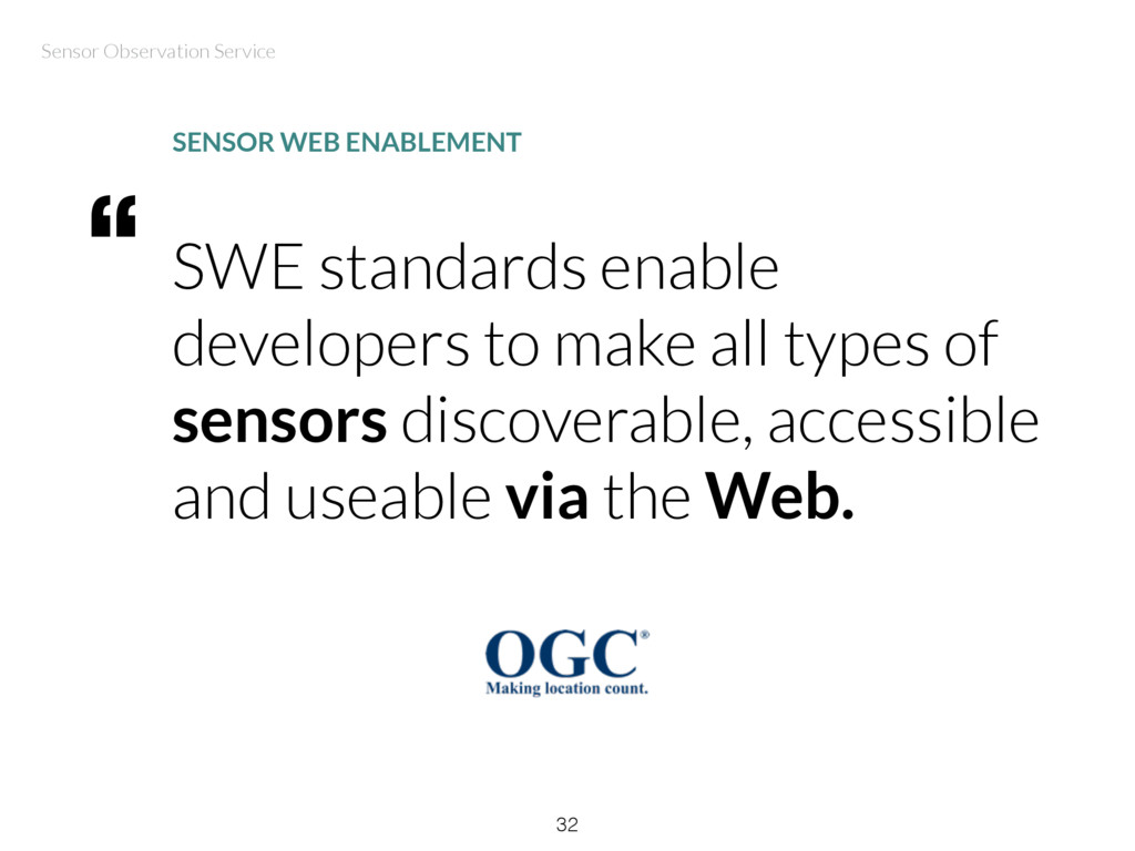 SWE standards enable developers to make all typ...