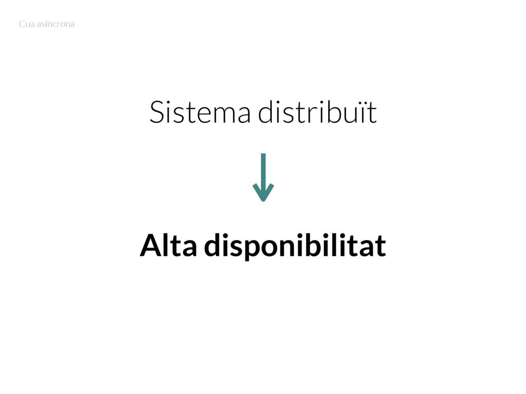 Sistema distribuït Alta disponibilitat Cua asín...