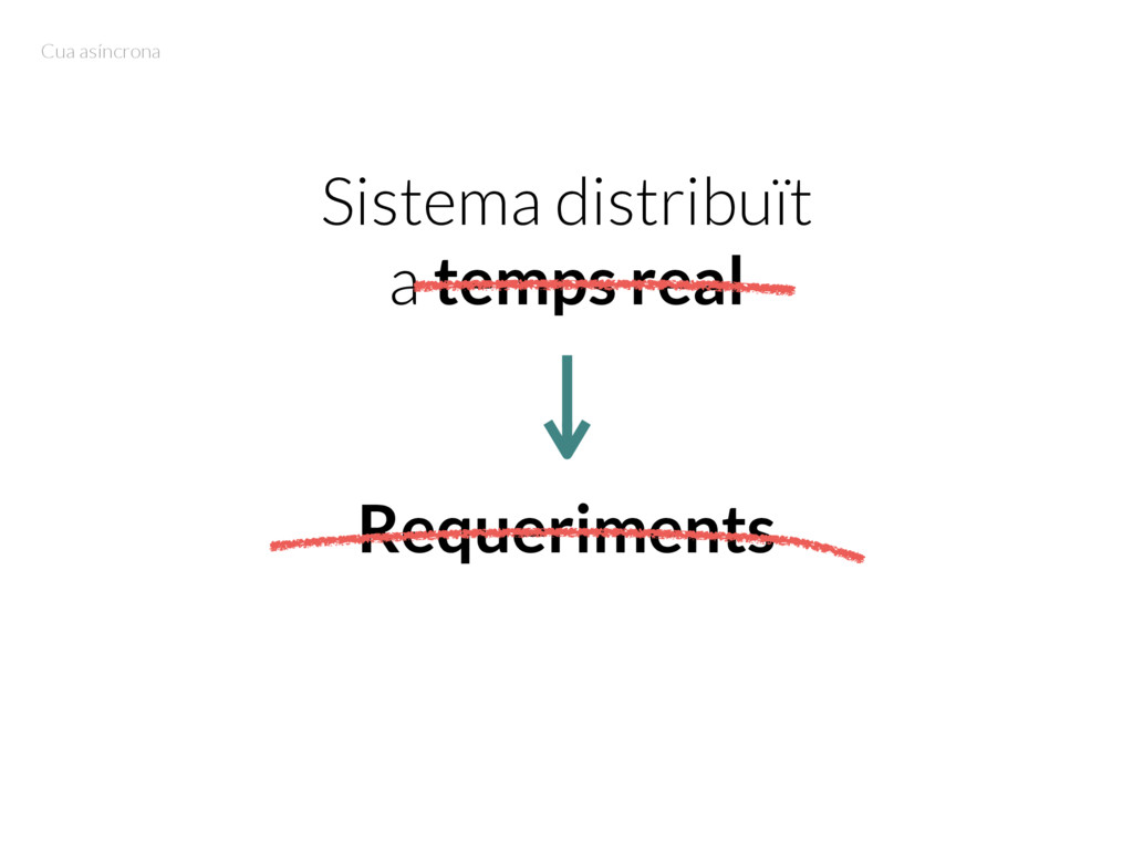 Sistema distribuït a temps real Requeriments Cu...