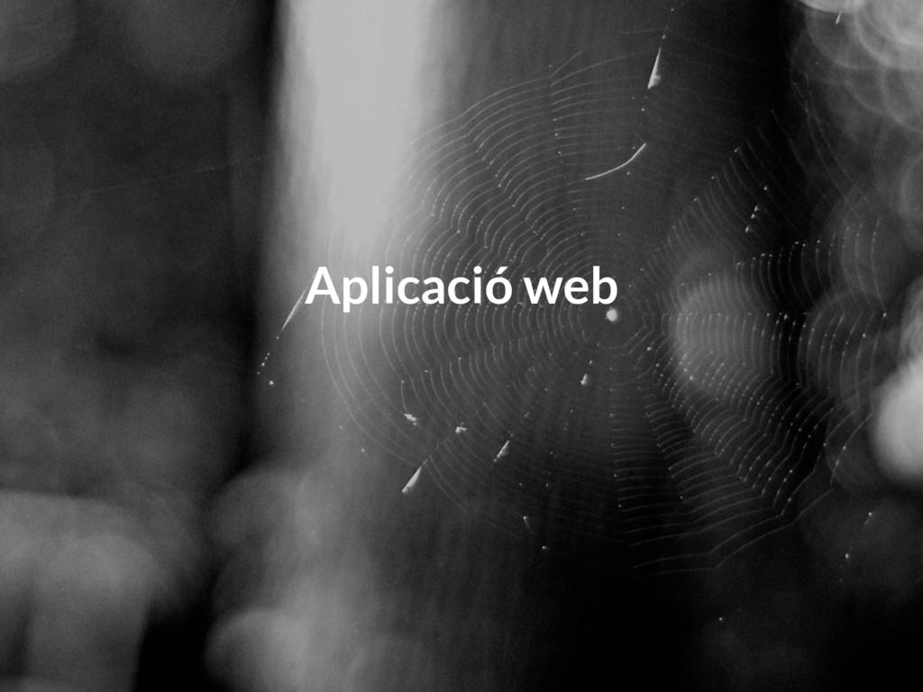 Aplicació web
