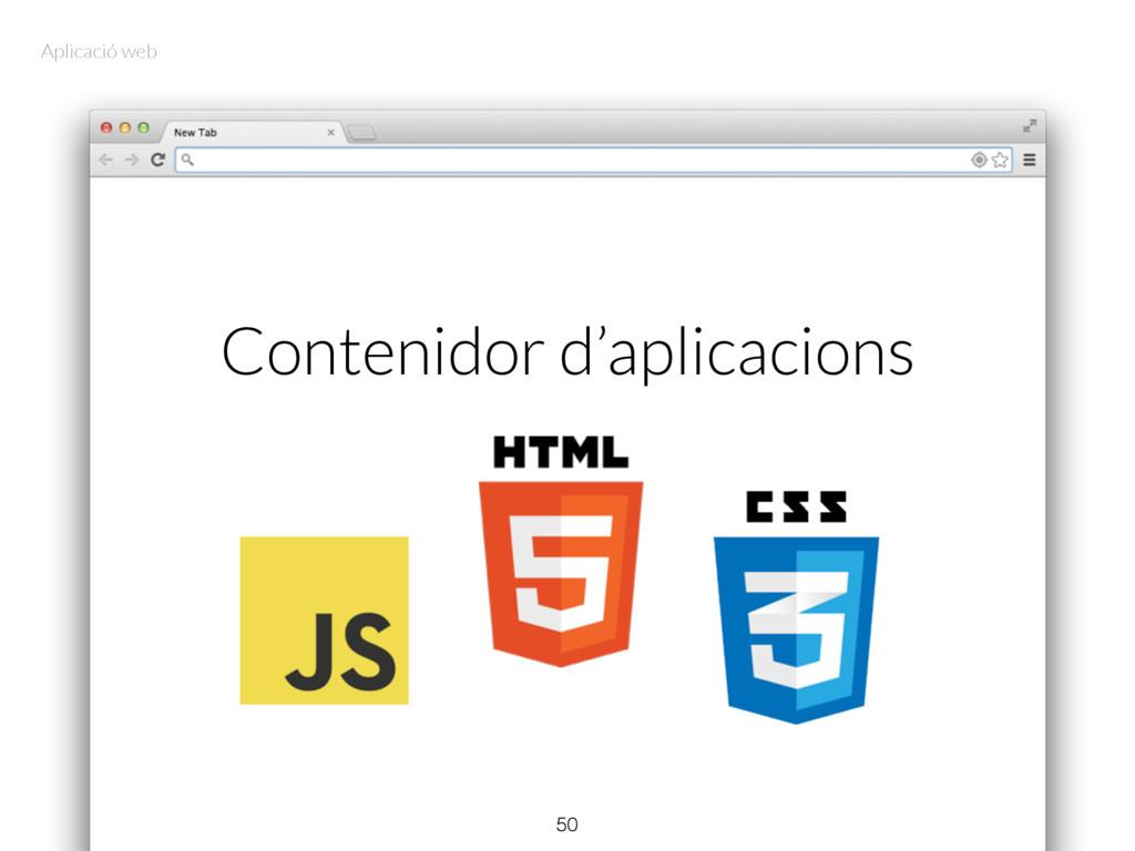 Contenidor d'aplicacions 50 Aplicació web