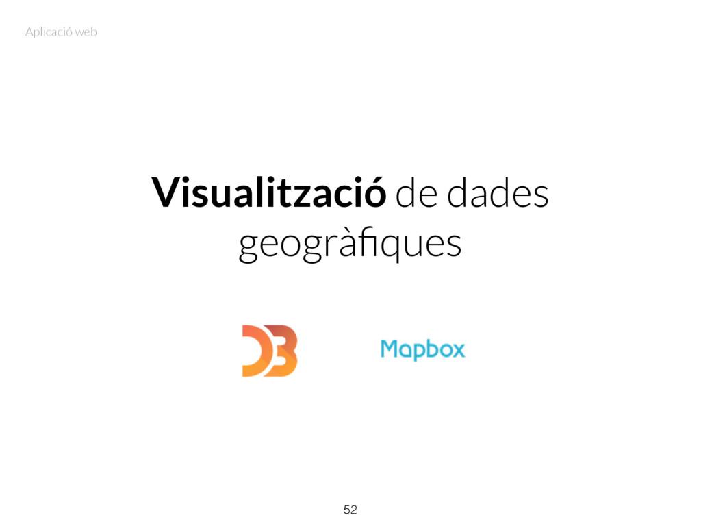 Visualització de dades geogràfiques 52 Aplicació...