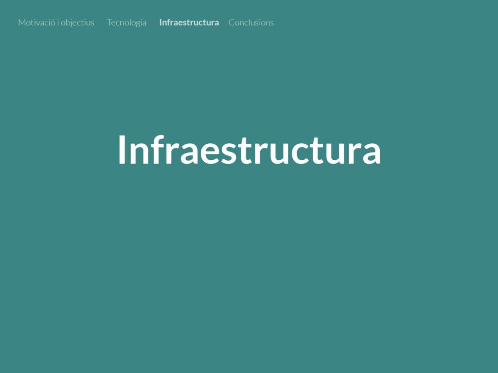 Infraestructura Motivació i objectius Tecnologi...